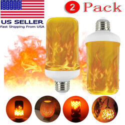2 Pack LED Flame Effect Simulated Flicker Nature Fire Bulbs Light Decor E27 Lamp $9.66