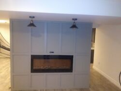 Recessed wall fireplace electric with remote like brand new condition $350.00