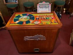 1947 H.C. Evans Horse Racing Console Slot Machine Fully Restored