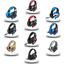 K125 Gaming Headset for PS4 New Xbox One PC Stereo Surround LED Headphones Mic
