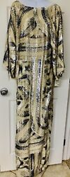 Emilio Pucci Hand Sequined Gown With Kimono Sleeves - Wear It A La Janis Joplin