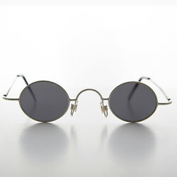 Micro Frame Vintage Sunglass Oval Silver Spectacle Frame Joseph $25.00