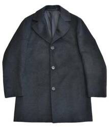 KITON Cashmere Coat Dark Gray Men's Size 44 Made in Italy Fine Quality Y68