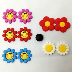 10pcs Flowers Shoe Charms Fits Jibbitz Clog Shoes & Bands Wristband Child Gifts