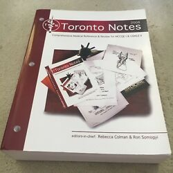 R. COLEMAN. TORONTO NOTES. 2008. MCCQE 1 & USMLE II 24TH EDITION. 0968592872