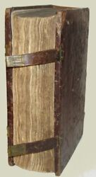 1484 Incunable Wooden Boards Working Clasps SCARCE Gothic de Herp Mystic Sermons