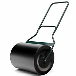 Goplus Poly PushTow Lawn Roller Heavy Duty Poly Roller Filled WWater 16-Inch b