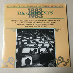 One Hundred Years of Great Artists at the MET 1883-1983- The Conductors LP $12.00