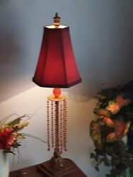 Pair of red Vintage lamps  $26.40