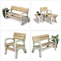 Outdoor Any Size Chair Bench Kit 6' Beige Resin Ergonomic Garden Patio Furniture