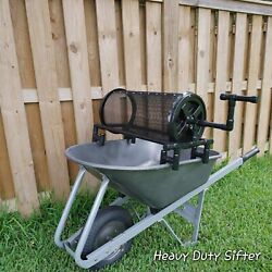HEAVY DUTY sifter sieve trommel For Soil Worm Casting Rock Compost $168.00