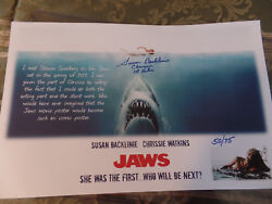 JAWS 1st Victim autographed 11x17 Lt Edition to only 75 when she met Spielberg