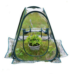 Clear Flower Cover Greenhouse House Tent Portable Plastic Zipper Pop Up Indoor