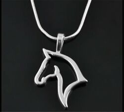 Chic Silver Plated Animal Horse Pets Pendant Necklace Charm Chain Gift Jewelry