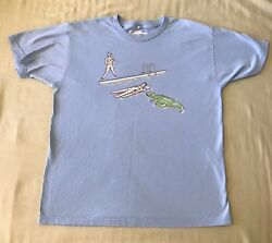 """Threadless T Shirt """"She Screamed But To No Avail"""" Men's  Guys Large L"""
