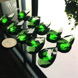 10Pc Green Magic Angel CRYSTAL Glass Chandelier Prisms Pendant Decor SUNCATCHER $7.99