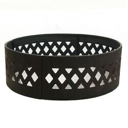 Sunnydaze Décor 36 in. Dia Round Steel Crossweave Wood Burning Campfire Ring