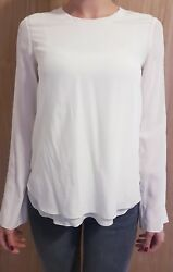 Chloe iconic milk blouse Size 34 plain with long wide straight sleeves. RRP £750