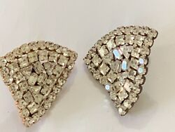 Vintage 1980s Yves Saint Laurent Rive Gauche Clip On Earrings -  Bewitching
