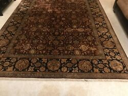 silkwool persian handknotted large rug 8.5 by 12. Original cost $11000.