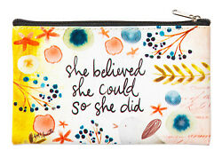 Simple Inspirations Zippered Coin Purse She Believed..