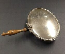 Vintage Silent Butler Wooden Handle Oval Detailed