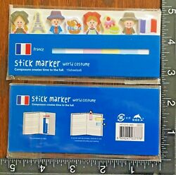 FRANCE PAD WITH 8 DIFF STICKY NOTES NOVELTY FOR OFFICE amp; SCHOOL SUPPLIES #FRANCE $1.49