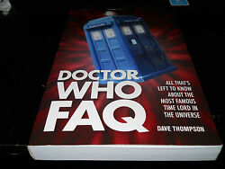 Doctor Who FAQ: 2013 Paperback signed by authoer Dave Thompson. RARE!!!