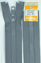 Vizzy Chunky Open End Zip 65cm Colour 62 GREY A Quality Brand Name Zipper