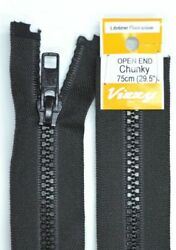Vizzy Chunky Open End Zip 75cm Colour 02 BLACK A Quality Brand Name Zipper