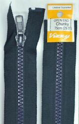 Vizzy Chunky Open End Zip 75cm Colour 58 NAVY A Quality Brand Name Zipper