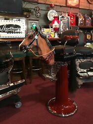 1900's Barbershop Chair Emil Paidar Child's w Carved Horse Head