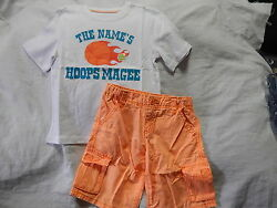NWT 5 5T CRAZY 8 by GYMBOREE TOTALLY TROPICAL TOP & SHORTS