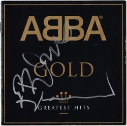 ABBA Gold BJORN ULVAEUS BENNY ANDERSSON Dancing Queen Mamma Mia Autograph SIGNED