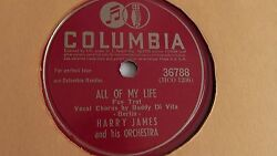 Harry James - 78rpm single 10-inch – Columbia #36788 All Of My Life