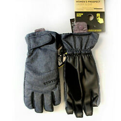 BURTON Womens 2018 Snowboard Snow Prospect Under Gloves Denim $32.97