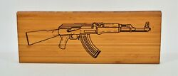 AK 47 Bamboo Wall Sign Medium $49.99