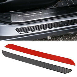 Pair Carbon Fiber Car Scuff Plate Door Sill Panel Protection Guard Trim Sticker
