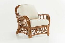 RATTAN MAN Antigua Indoor Arm Chair from American Rattan and Wicker
