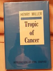 TROPIC  Of CANCER Henry Miller1st   inscribed HB 1150 Unique  Rare