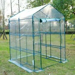 Greenhouse Frame Plastic Film Cover Kit Portable Super Plant Food Outdoor Clear