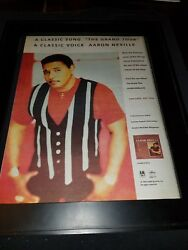 Aaron Neville The Grand Tour Rare Original Radio Promo Poster Ad Framed!