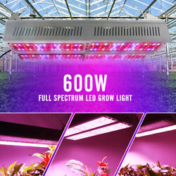 V600 600W LED Grow Light Full Spectrum Double Row Sub-Control for Indoor Plants