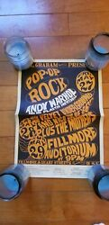 Fillmore Poster BG-8-OP-1 signed by Wes Wilson Andy Warhol