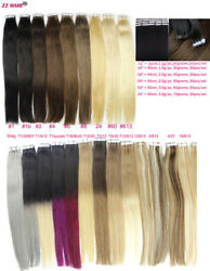 RUSSIAN 14-24 TAPE IN HAIR 100%HUMAN HAIR EXTENTION 20pcspack SKIN WEFT 30g-70g