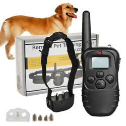 Training Dog Pet Electric Collar for Large 328 Yard Shock With Remote Waterproof $17.95