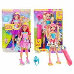 New Barbie Video Game Hero Match Game Princess Or Light-Up Skates Doll Official