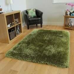 Dense High End Modern Colorfast Durable Soft Green Shaggy Rug Small Bedroom Rugs $116.95