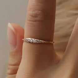 Exquisite Small Zircon Wedding Ring Engagement Women Jewelry Gifts Size 6-10