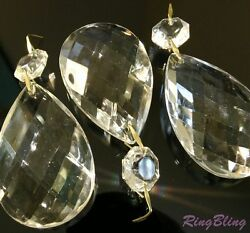 3 x Replacement Chandelier Crystal Pear Drops Pendeloques Chandelier Spare Parts GBP 5.99